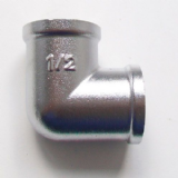 "1/2"" x 1/2"" Matt Chrome Female to Female Elbow - 25920100"